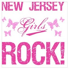 New Jersey Girls Rock Canvas Art