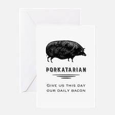 Porkatarian Greeting Cards