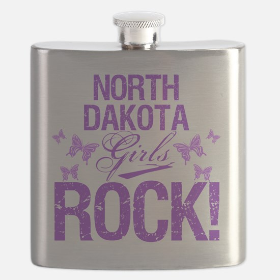 North Dakota Girls Rock Flask