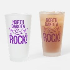 North Dakota Girls Rock Drinking Glass