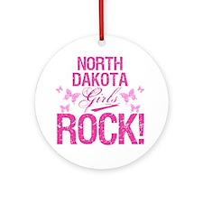 North Dakota Girls Rock Round Ornament