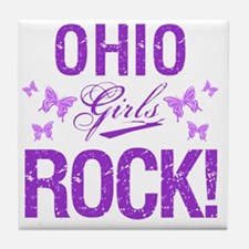 Ohio Girls Rock Tile Coaster