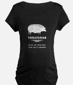 Bacon Lover - Vintage Pig Maternity T-Shirt