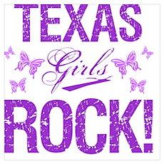 Texas Girls Rock Poster