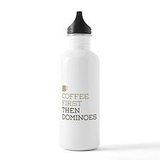 Coffee Then Dominoes Water Bottle