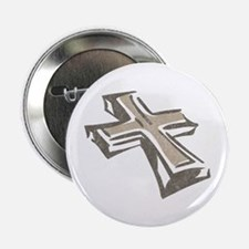 Vintage Cross Button