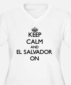 Keep calm and El Salvador ON Plus Size T-Shirt