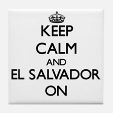 Keep calm and El Salvador ON Tile Coaster