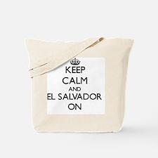Keep calm and El Salvador ON Tote Bag