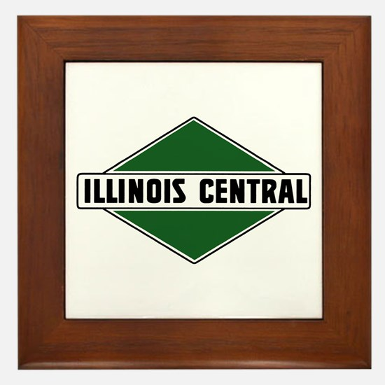 Illinois Central Framed Tile