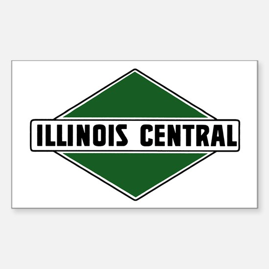 Illinois Central Rectangle Decal