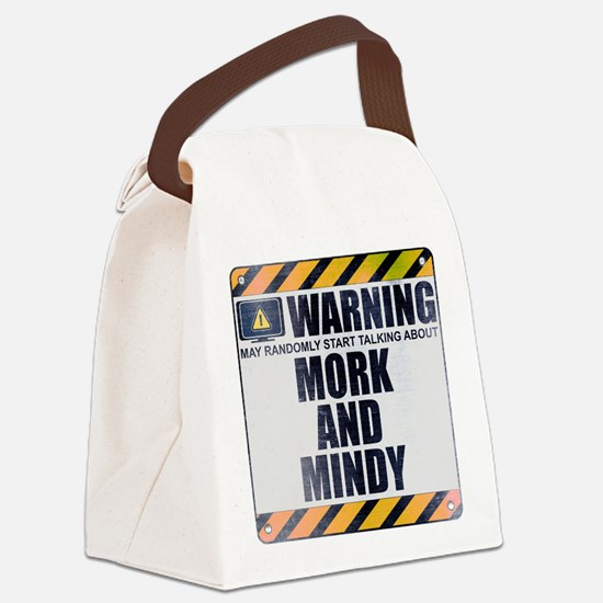 Warning: Mork and Mindy Canvas Lunch Bag