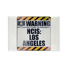 Warning: NCIS: Los Angeles Rectangle Magnet