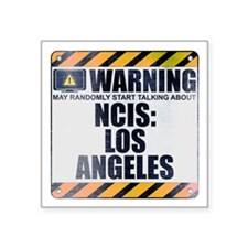 "Warning: NCIS: Los Angeles Square Sticker 3"" x 3"""