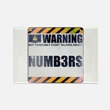 Warning: Numb3rs Rectangle Magnet
