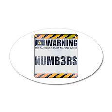 Warning: Numb3rs 22x14 Oval Wall Peel