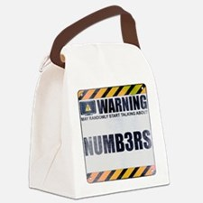 Warning: Numb3rs Canvas Lunch Bag