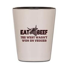 EAT BEEF Shot Glass