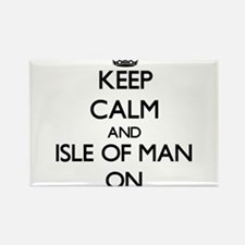 Keep calm and Isle Of Man ON Magnets