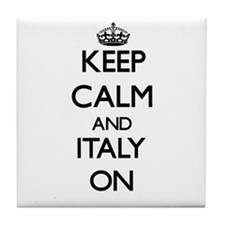 Keep calm and Italy ON Tile Coaster