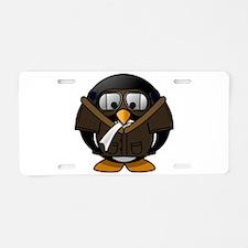 Pilot Penguin Aluminum License Plate