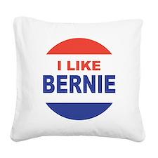 i like bernie 2016 best Square Canvas Pillow