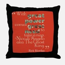 Nico Di'Angelo Quote Throw Pillow