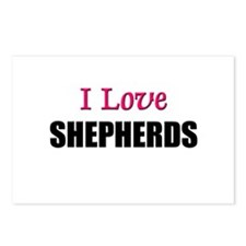 I Love SHEPHERDS Postcards (Package of 8)