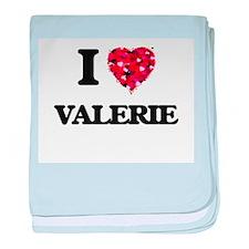 I Love Valerie baby blanket
