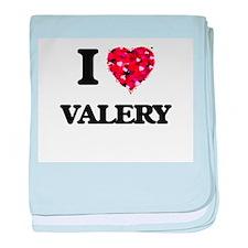 I Love Valery baby blanket