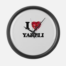 I Love Yareli Large Wall Clock