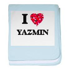 I Love Yazmin baby blanket