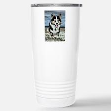 Beach Running Corgi Travel Mug