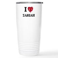 I Love Zariah Travel Mug