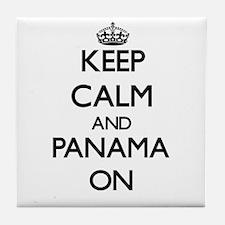 Keep calm and Panama ON Tile Coaster