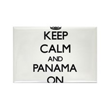 Keep calm and Panama ON Magnets
