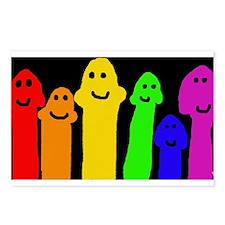 GAY MUSHROOM PEOPLE RAINB Postcards (Package of 8)