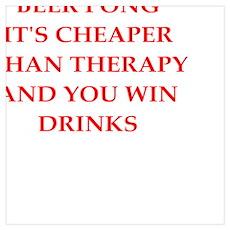 beer pong joke Poster