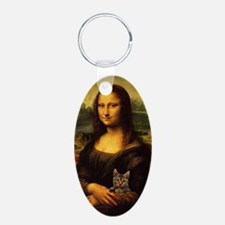 Monalisa with cat Keychains