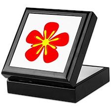 Red Retro Floral Power Henrietta's Fa Keepsake Box