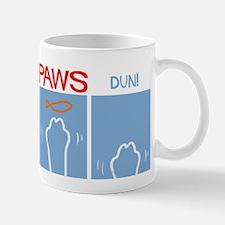 Cat Paws Not Shark Jaws Mug