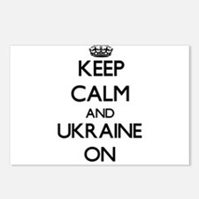 Keep calm and Ukraine ON Postcards (Package of 8)