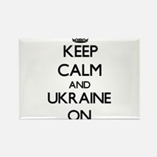 Keep calm and Ukraine ON Magnets