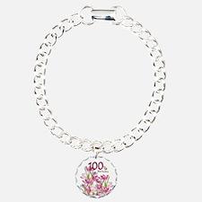 Funny Hundredth Charm Bracelet, One Charm