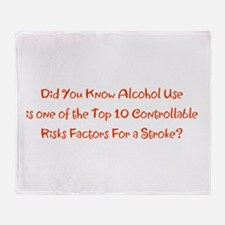Alcohol Use Stroke Risk Factors Brad Throw Blanket