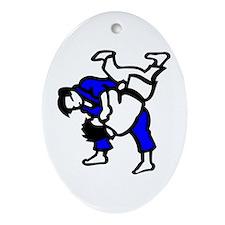 Judo Ornament (Oval)