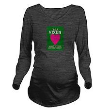 Cute Vixen Long Sleeve Maternity T-Shirt