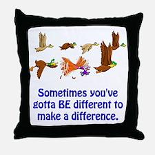 Funny Funny ducks Throw Pillow