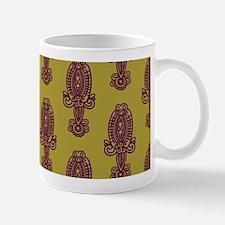 Purple Mehndi Pattern Mugs