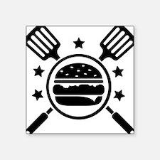 "Master Griller Square Sticker 3"" x 3"""
